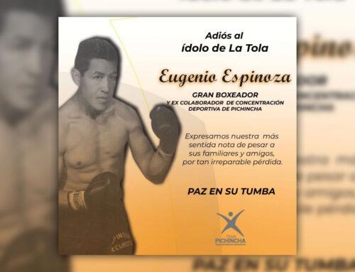 El Team Pichincha lamenta la partida del Campeón Eugenio Espinoza